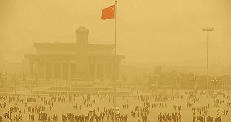 Tempete de sable Chine