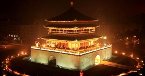 Bell Tower dans la nuit de Xi'an