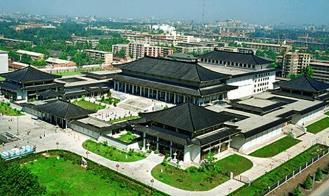 Vue aerienne du musee du shaanxi de xian