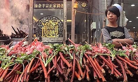 Marchande dans le quartier musulman de Xian